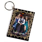 Gold Glitter Photo Key Chain - Custom