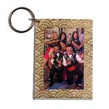 Gold Glitter Arches Photo Key Chain - Blank