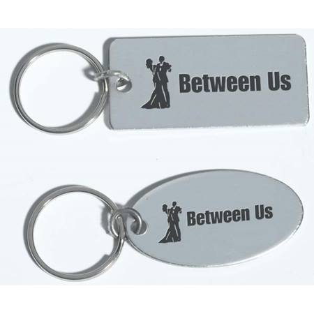 His & Hers Silver Key Tag