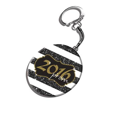 Prom 2016 Key Chain With Glitter Graphic