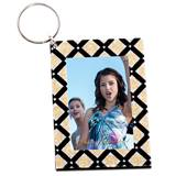 Diamond Glitz Photo Key Chain