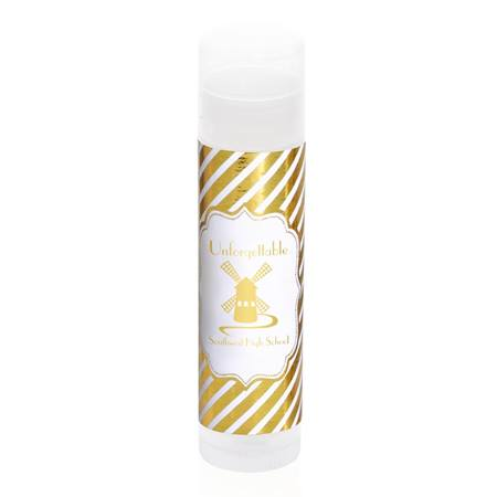 Lip Balm Tube with Metallic Foil Label - Gold Lines