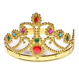 Plastic Jeweled Queen Crown