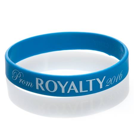 Prom Royalty 2016 Wristband - Blue/White