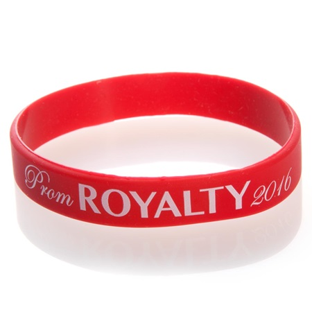 Prom Royalty 2016 Wristband - Red/White