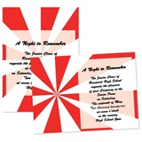5x7 Invitation - Red and White Burst