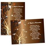 Full-color 5x7 Invitation - Butterfly Swirls