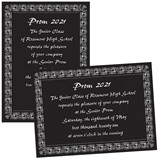 Full-color 5x7 Invitation - Curlicue Border