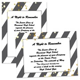 Custom Full-color 5x7 Invitation - Diagonal Stripes