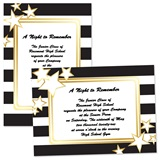 5x7 Invitation - Black, White and Gold