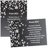 Custom Full-color 5x7 Invitation - Silver Bubbles