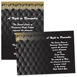 5x7 Invitation - Quilted Diamonds
