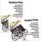 5x7 Invitation - Movie Clapboard