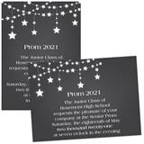 Full-color 5x7 Invitation - Dangling Stars