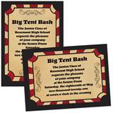 Full-color 5x7 Invitation - Circus Stripes