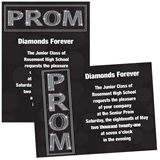 Bling Prom 4 x 6 Invitations