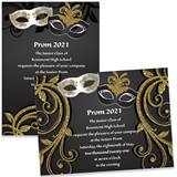 Majestic Masks 4x6 Invitations