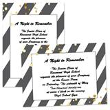 Diagonal Stripes 4x6 Invitations