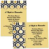 Gold Honeycomb 4 x 6 Invitations