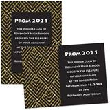 Gold and Black Diamond 4 x 6 Invitations