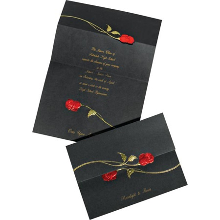 Black Rose Invitation
