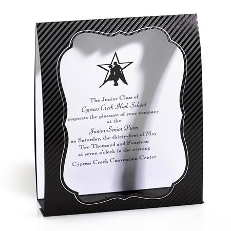 Black Pinstripe Frame/Invitation