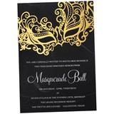 Golden Masquerade Invitation