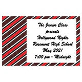 Full-color Ticket - Diagonal Red Stripes