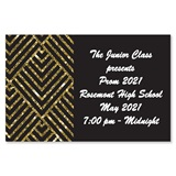 Full-color Ticket - Gold and Black Diamonds