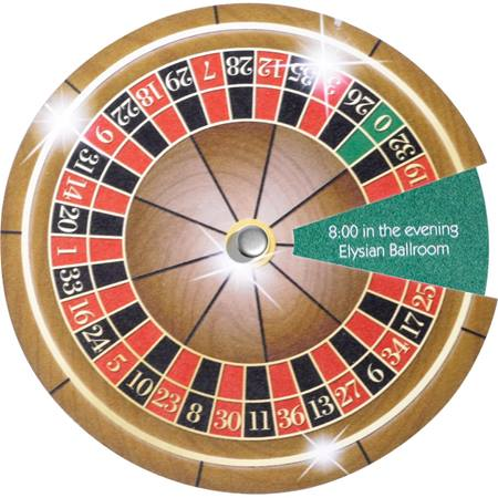 Spinner Invitation - Casino Roulette Wheel