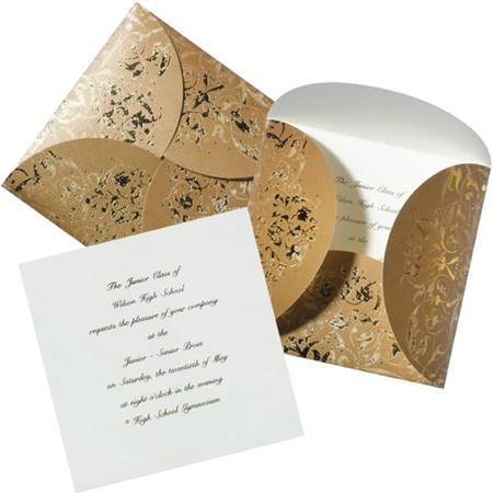 Gold Wrapped Invitation