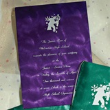 Serpentine Foil Invitation