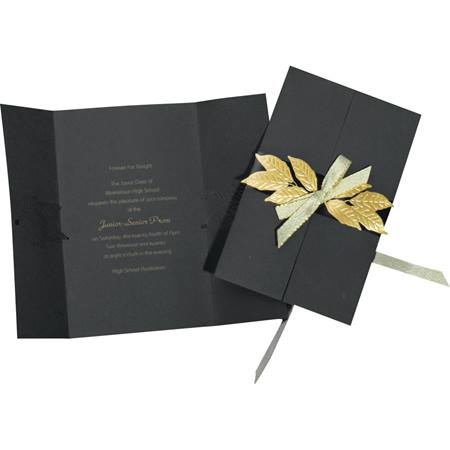 Gold Leaves Invitation