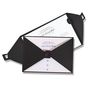 Holographic Bow Tie Invitation