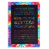 Totally Tie-Dye Invitation