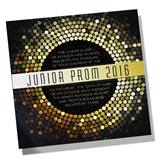 Gold Disco Dots Invitation