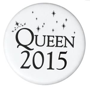 Queen 2015 Button - White