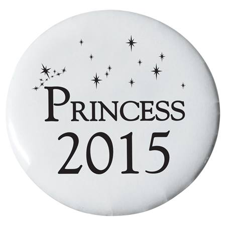 Princess 2015 Button - White