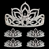 Prom Tiara Set - Falling Star Queen and Toni Court