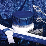 Silver Sparkle Prom Royalty Set With Scepters