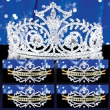 Prom Tiara Set - Elsa Queen and Gold Alisa Court