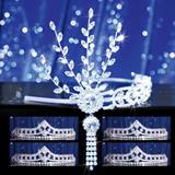 Prom Tiara Set - Silver Daisy Queen and Cleo Court