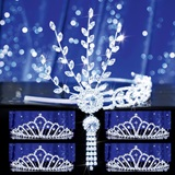 Prom Tiara Set - Silver Daisy Queen and Karen Court