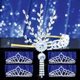 Prom Tiara Set - Gold Daisy Queen and Karen Court