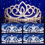 Prom Tiara Set - Gold Sasha Queen and Arilda Court