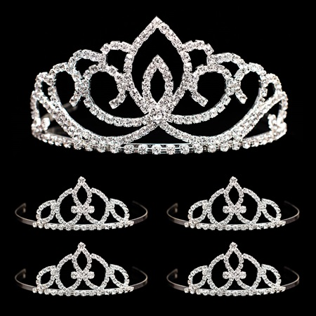 Prom Tiara Set - Sasha Queen and Francine Court
