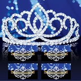Prom Tiara Set - Sasha Queen and Gold Alisa Court