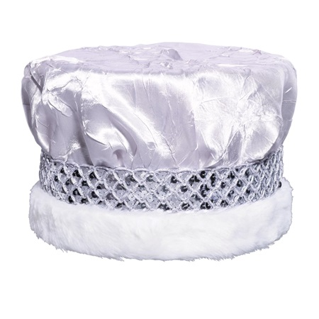 Crushed Satin Crown - Silver