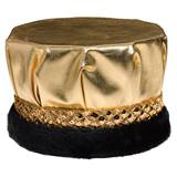 Metallic Crown - Gold Band With Black Fur