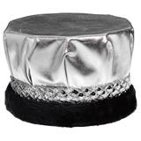 Metallic Crown - Black Band With Black Fur